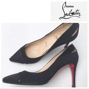 CHRISTIAN LOUBOUTIN black pumps heels Shoes 37